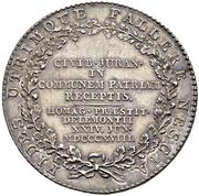 "Medal ""Jurathaler"" - Unification of Jura with Bern – reverse"