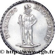 1 Thaler (two feathers) – reverse