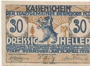 30 Heller (Berndorf) -  obverse