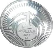 1 Dollar - Willem-Alexander & Beatrix – reverse