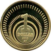 1 Dollar - Willem-Alexander & Beatrix -  reverse