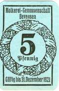 5 Pfennig (Molkerei-Genossenschaft) – obverse