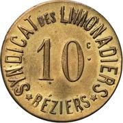 10 Centimes - Syndicat des Limonadiers - Béziers [34] – obverse