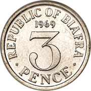 3 Pence – reverse