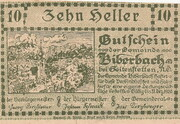 10 Heller (Biberbach) -  obverse