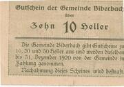 10 Heller (Biberbach) -  reverse