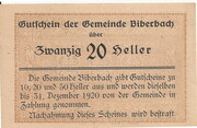 20 Heller (Biberbach) -  reverse