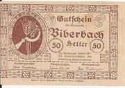 50 Heller (Biberbach) -  reverse