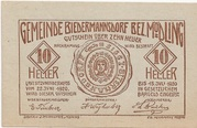 10 Heller (Biedermannsdorf) -  obverse