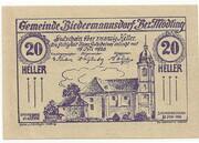 20 Heller (Biedermannsdorf) -  obverse