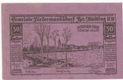 50 Heller (Biedermannsdorf) – obverse