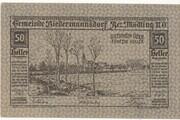 50 Heller (Biedermannsdorf) -  obverse