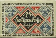 25 Mark (Stadtsparkasse) – reverse