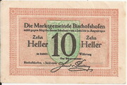 10 Heller (Bischofshofen) – obverse