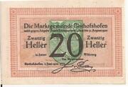 20 Heller (Bischofshofen) -  reverse