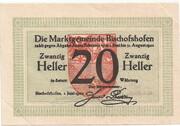 20 Heller (Bischofshofen) – obverse