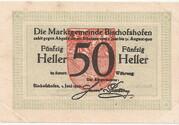 50 Heller (Bischofshofen) – obverse