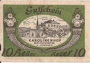 10 Heller (Bischofshofen - Bahnhofrestaurant Karolinenhof) -  obverse