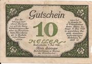10 Heller (Bischofshofen - Bahnhofrestaurant Karolinenhof) -  reverse