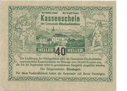 40 Heller (Bischofstetten) – obverse