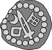 1 Hohlpfennig - Anonymous (Sword right; key left and down; moon left) – obverse