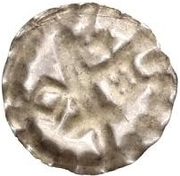 1 Hohlpfennig - Anonymous (Sword left; key right and down; star above) – reverse