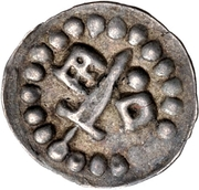 1 Hohlpfennig - Anonymous (Sword left; key right and centred; dot right) – obverse