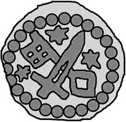 1 Hohlpfennig - Anonymous (Sword right; key left and down; star left, right, and above) – reverse