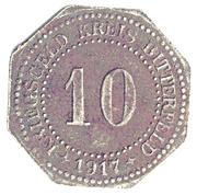 10 Pfennig - Bitterfeld (Bankverein G.m.b.H) – reverse