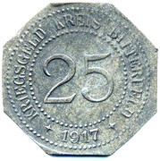 25 Pfennig - Bitterfeld (Bankverein G.m.b.H) – reverse