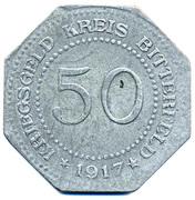 50 Pfennig - Bitterfeld (Bankverein G.m.b.H) – reverse