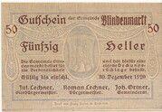 50 Heller (Blindenmarkt) -  obverse
