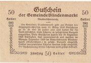 50 Heller (Blindenmarkt) -  reverse