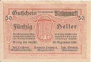 50 Heller (Blindenmarkt) – obverse