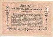 50 Heller (Blindenmarkt) – reverse
