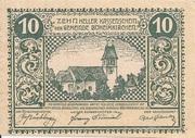 10 Heller (Böheimkirchen) – obverse