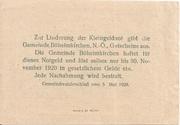 10 Heller (Böheimkirchen) – reverse