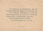 50 Heller (Böheimkirchen) – reverse