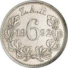 6 Pence (Zuid Afrikaansche Republiek) – reverse