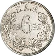 6 Pence (Zuid Afrikaansche Republiek) -  reverse