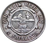 2 Shillings (Zuid Afrikaansche Republiek) – reverse