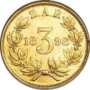 3 Pence (Zuid Afrikaansche Republiek; Gold Pattern) – reverse