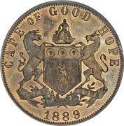 1 Penny - Victoria (Cape of Good Hope) – reverse