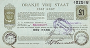 1 Pond (Orange Free State - Postal Note) – obverse