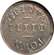 5 'Pence' (Griqua Town) – reverse