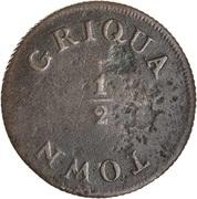 ½ 'Penny' (Griqua Town) – reverse