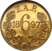6 Pence (Zuid Afrikaansche Republiek; Gold Pattern) – reverse