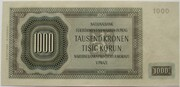 1000 Korun (2nd Issue - Monochrome Reverse) -  reverse
