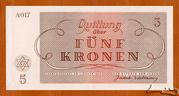 5 Kronen (Theresienstadt Concentration Camp) -  reverse