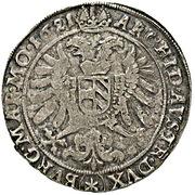 ½ Thaler - 75 Kipper Kreuzer - Ferdinand II (Kuttenberg) – reverse